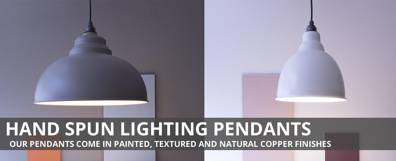 Hand Spun Lighting Pendants
