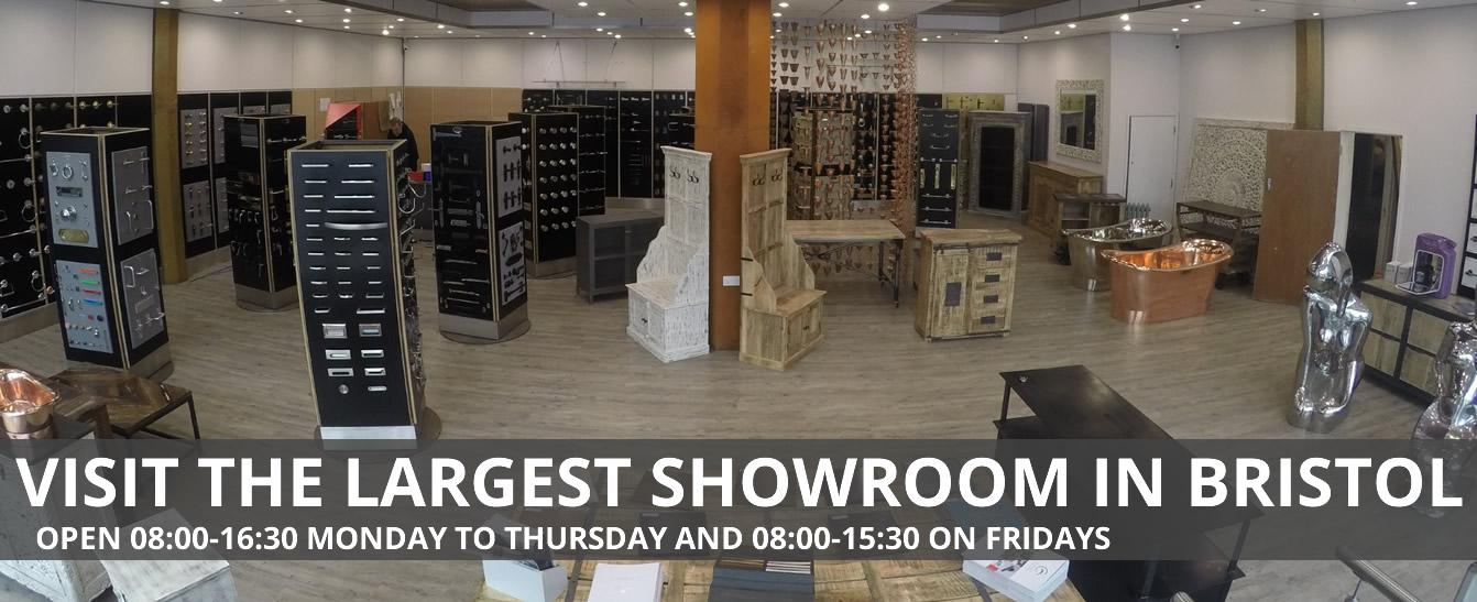 Visit the largest showroom in Bristol